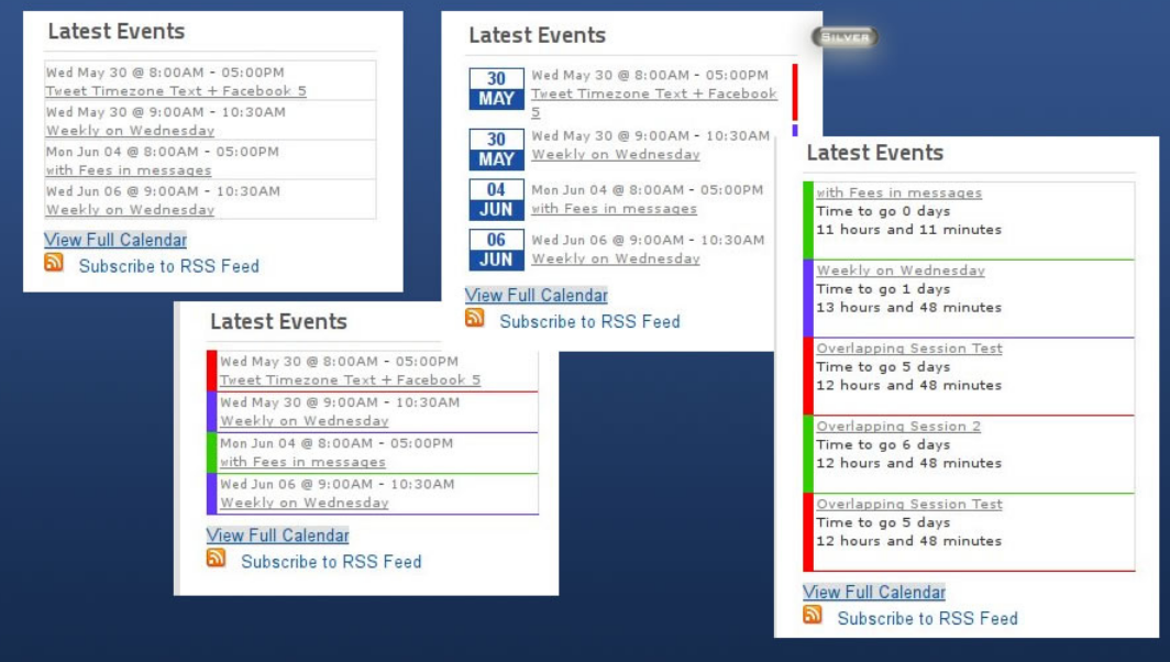 Latest Events module